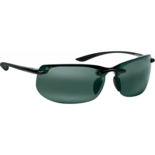 Maui-Jim Banyans Shiny Black Neutral Grey Polar+
