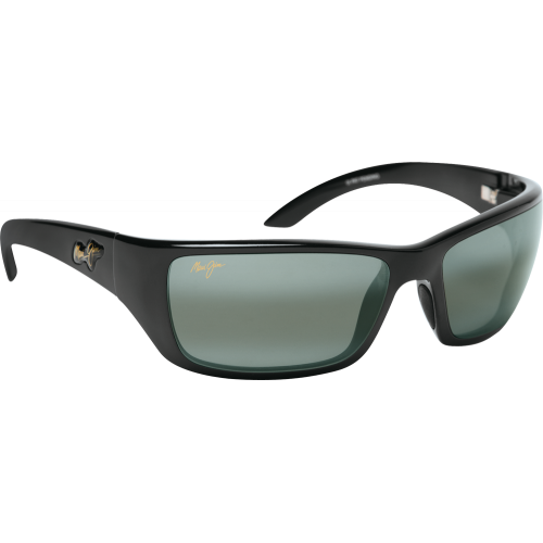 Maui Jim Canoes Gloss Black Neutral Grey Polar+