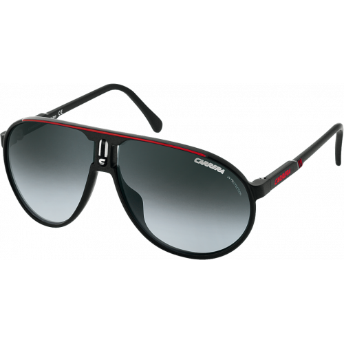 Carrera Champion Black/Red Grey Silver Mirror