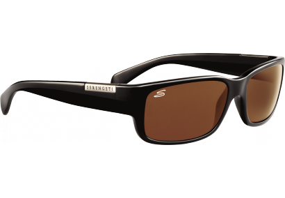 Serengeti Merano Shiny Black Drivers Polarized