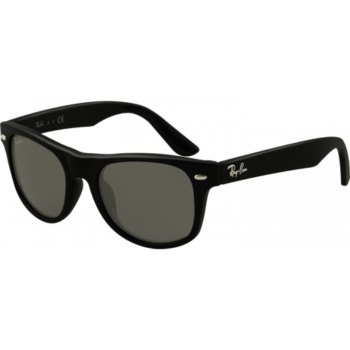 Ray-Ban Wayfarer Junior Shiny Black Grey Green