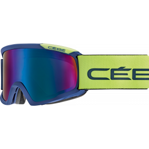 Cebe Masque de ski OTG Fanatic L Matte Petrol/Lime Brown Flash Blue