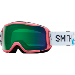 Smith OTG Ski Goggles Grom Sunburst Doodles Chromapop Everyday Green