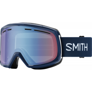 Smith OTG Ski Goggles Range Navy Blue Sensor Mirror