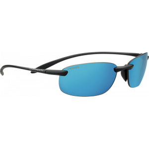 Serengeti Nuvola Satin Black Polarized PhD 555nm Blue Mirror