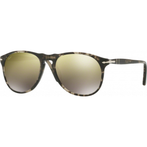 Persol 9649S Medium Grey/Black Havana Brown Mirror Gold