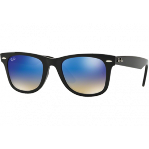 Ray-Ban Wayfarer Ease RB4340 Noir Bleu Gradient Flash