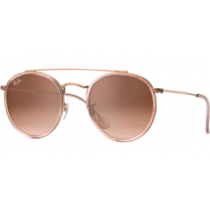 Ray-Ban Round Double Bridge Rose/Cuivré Brun Dégradé