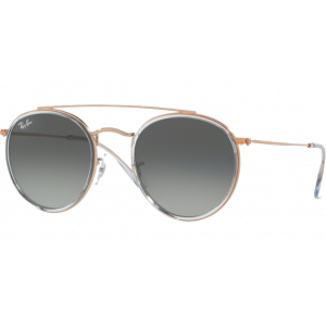 Ray-Ban Round Double Bridge Copper Gris Dégradé