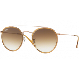 Ray-Ban Round Double Bridge Copper Brun Dégradé