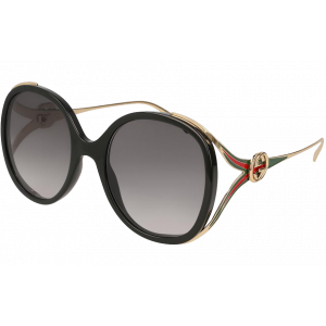 Gucci GG0226S Black Gold Gris dégardé