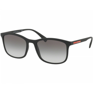 Prada SPS01T Black Rubber Gray Gradient