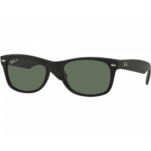 Ray-Ban New Wayfarer Black Rubber Vert Polarisé