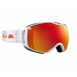 Julbo Masque de ski Quantum Blanc/Gris Orange Flash Fire