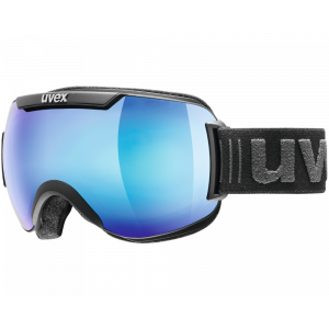 Uvex Downhill 2000 FM Black Mat Blue Mirror Clear