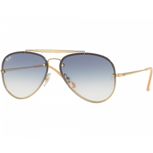 Ray-Ban 3584N Blaze Aviator Or / Bleu Dégradé
