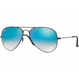 Ray-Ban Aviator Black Blue Gradient Mirror