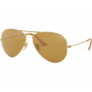 Ray-Ban RB3025 Aviator Evolve Doré Marron Photochromique