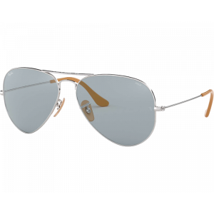 Ray-Ban  RB3025 Aviator Evolve Argenté Bleu Photochromique