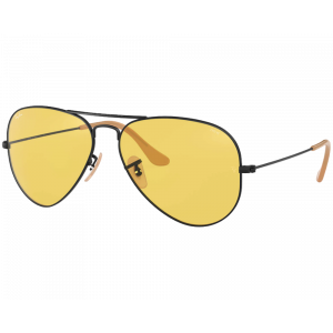 Ray-Ban RB3025 Aviator Evolve Noir Jaune Photochromique