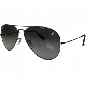 Ray-Ban Aviator Gunmetal Polar Blue Gradient
