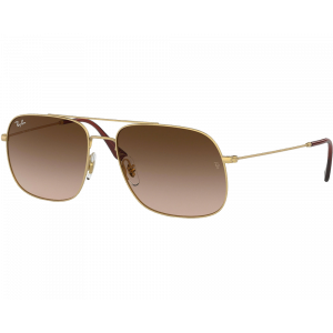 Ray-Ban 3595 Rubber Gold/	Brown Gradient Dark Brown