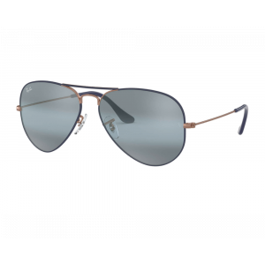 Ray-Ban Aviator Copper Dark Blue Matte Blue Mirror Gray