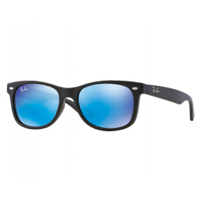 Ray-Ban New Wayfarer Junior Matte Black Blue Mirror