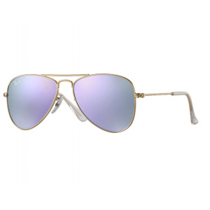 Ray-Ban Aviator Junior Doré Lilas Miroité