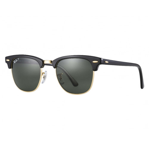 Ray-Ban Clubmaster Classic Black/Gold Green G-15