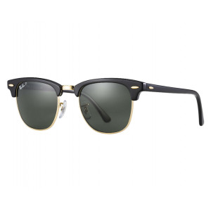 Ray-Ban Clubmaster Classic Black/Gold Green G-15 Polarized