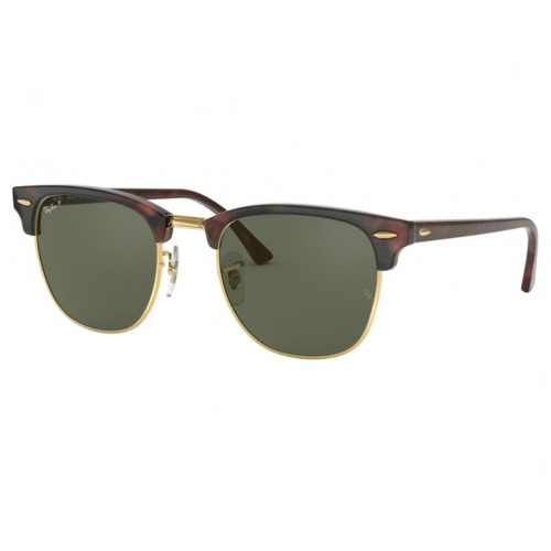 Ray-Ban Clubmaster Classic Havana/Gold Green G-15 Polarized
