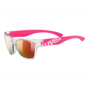Uvex Sportstyle 508 Rose translucide Mirroir Rouge