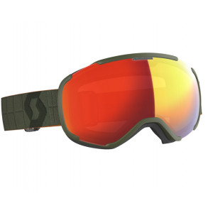 Scott Ski Goggles Faze II Khaki Green Red Chrome