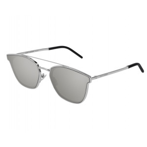 SAINT LAURENT SL 28 METAL Argenté Silver Mirror