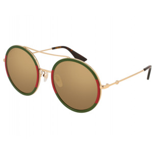 GUCCI GG0061S Green/Red/Gold Gold Mirror