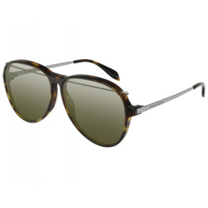 Alexander McQueen AM0193S Havana/Ruthenium Green Gradient