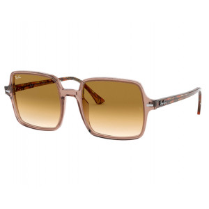 Ray-Ban 1973 Square II Brun Transparent/Ecaille Marron Clair Dégradé