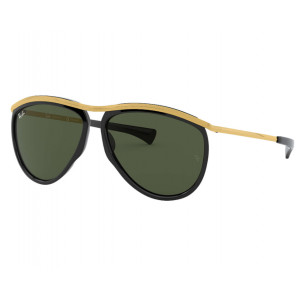 Ray-Ban 2219 Olympian Aviator Black Green G-15