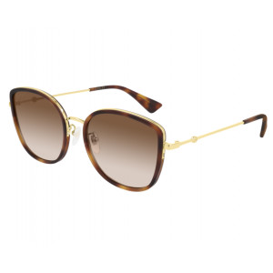 GUCCI GG0606SK Havana/Gold Brown Gradient