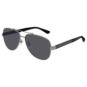 Gucci GG0528S Ruthenium/Havana Grey