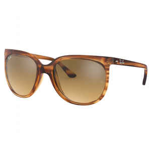 Ray-Ban Cats 1000 Striped Brown Brown Silver Mirror