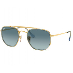 Ray-Ban 3648M The Marshal II Doré Bleu Dégradé