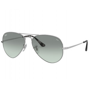 Ray-Ban RB3689 Aviator Metal II Argenté Bleu Photochromique Evolve