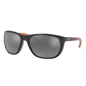 Ray-Ban RB4307 Gris Transparent/Orange Gris Dégradé Mirror