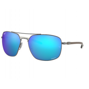Ray-Ban RB8322CH Gunmetal Blue Mirror Polarized Chromance