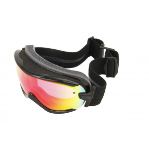 Smith Ski Goggles Virtue Black Lux/Red Sol-X Mirror
