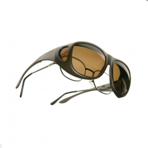 Demetz Fit Over Sunglasses Cocoons C305Y Brown Polarized