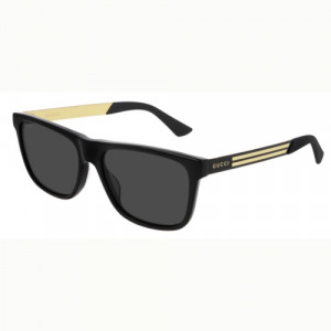 Gucci GG0687S Black/Gold Grey