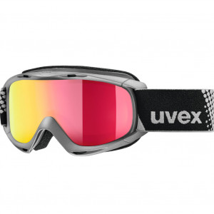 Uvex Masque de Ski Enfant (6-10 ans) Slider FM Anthracite Red Mirror S3